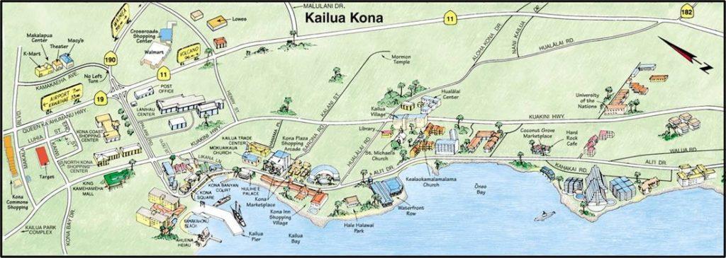 Map of Kona